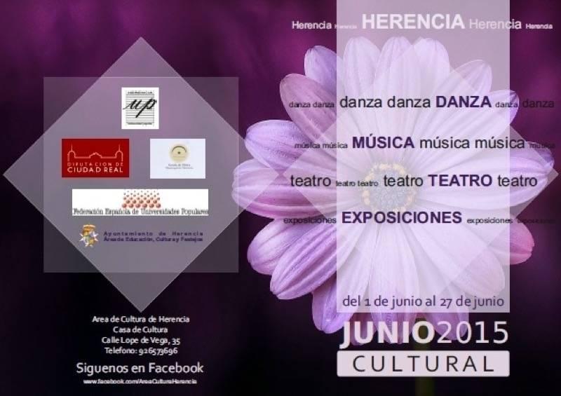 herencia cultura junio a - El Ayuntamiento de Herencia programa un junio muy cultural, con teatro, música y la clausura de todo un año en la Universidad Popular
