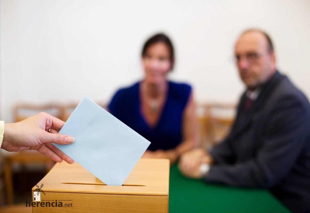 votacion en elecciones generales herencia