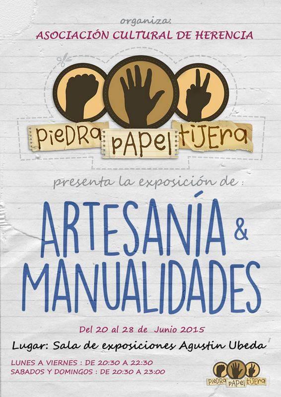Exposición de manualidades y artesanía de la asociación Piedra Papel Tijera 1