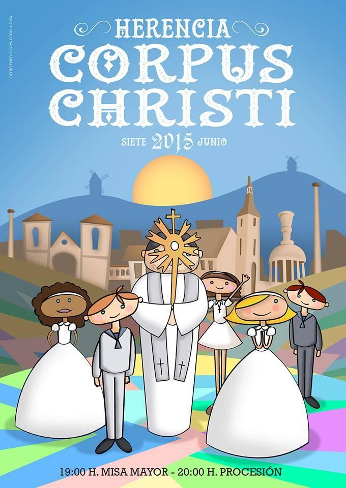 Cartel Corpus Christi de Herencia 2015 - Herencia prepara la celebración del Corpus Christi