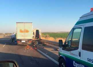 Accidente mortal en Autovía de los Viñedos Kilómetro 76 de la CM-42 a la altura de Herencia (Ciudad Real)