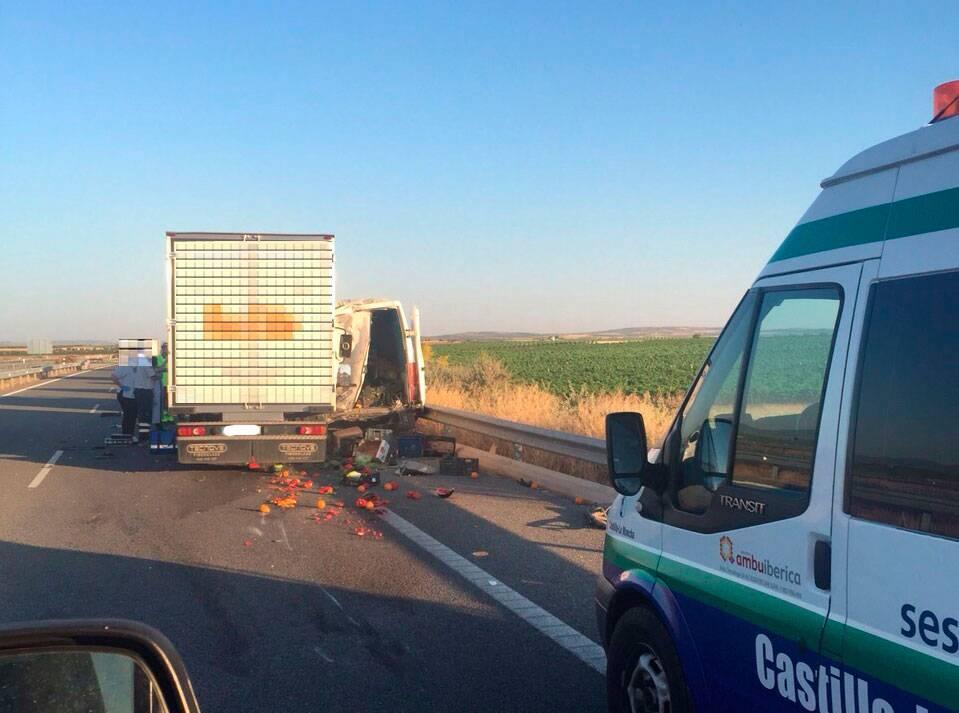 accidente autovia de los vinedos cm 42 herencia - Accidente mortal en la Autovía de los Viñedos CM-42