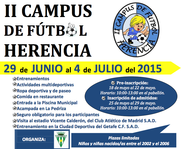 cartel de campus de Herencia