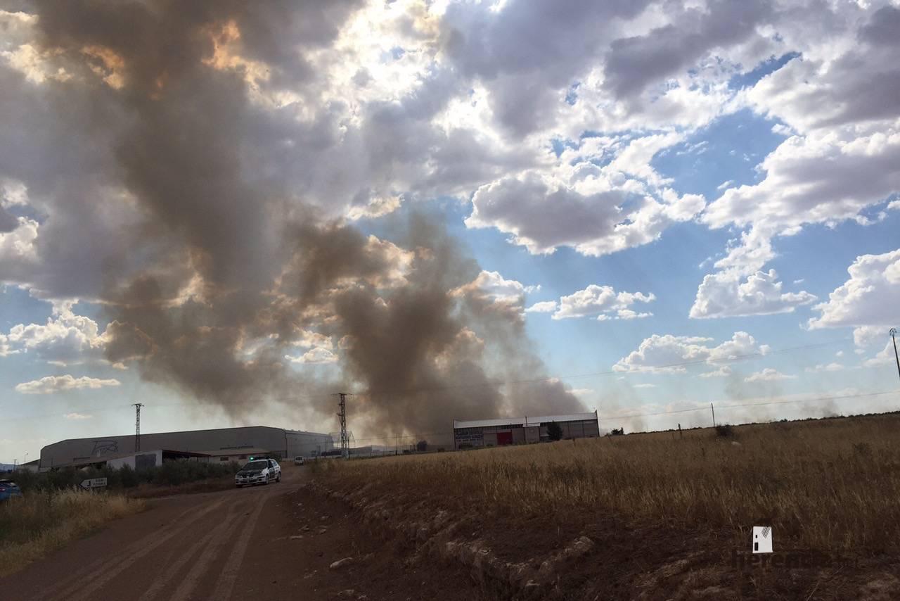 incendias en herencia ciudad real 3 - Incendios en campos de Herencia