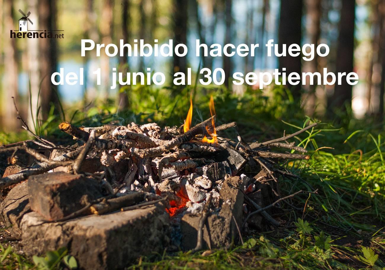 Prohibido hacer fuego al aire libre y barbacoas - Herencia (Ciudad Real)