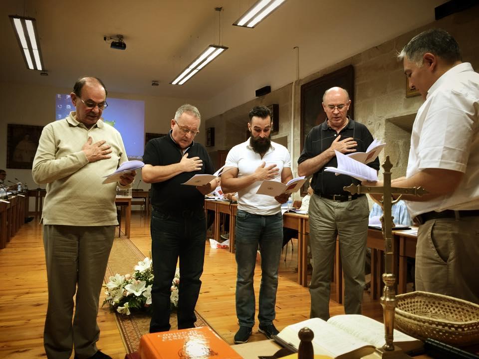 El P. Fr. Enrique Mora (tercero por la izquierda) elegido Consejero del nuevo gobierno provincial de Castilla de la Orden de la Merced