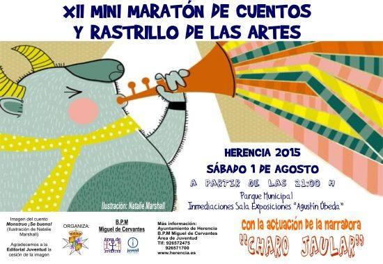 Cartel XII Maraton cuentos 2015 - XII Maratón de cuentos y rastrillo de las artes
