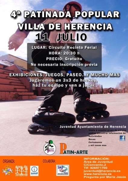 Cartel patinada Herencia 2015 - IV Patinada Popular de Herencia