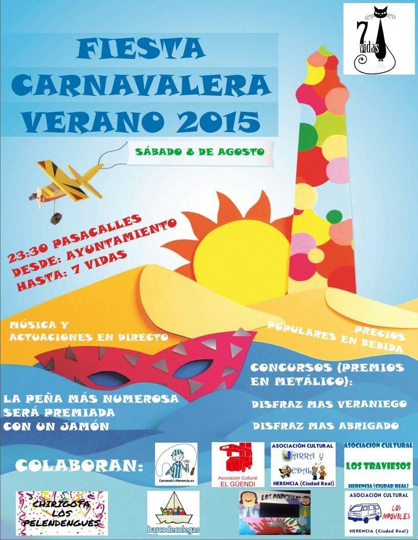 Fiesta Carnavalera Veran 2015 de Herencia - 7 Vidas organiza una fiesta carnavalera de verano