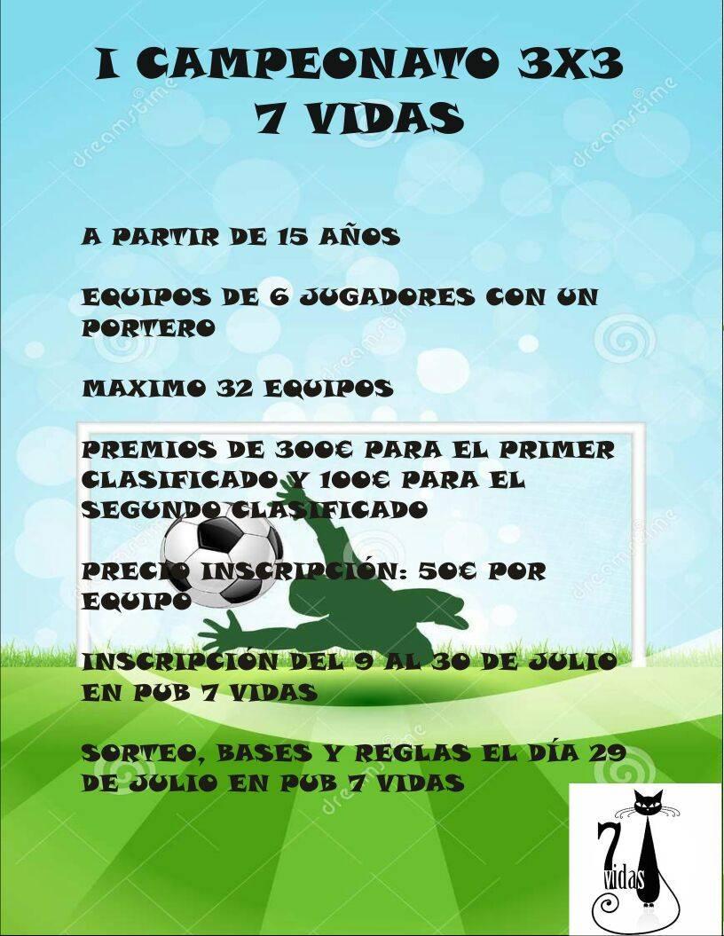 Primer Campeonato de fútbol 3x3 7Vidas - 7Vidas prepara un campeonato de fútbol 3x3