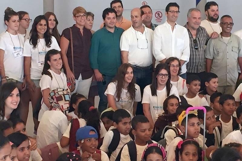 Recepcion saharauis Vacaciones en Paz 2015