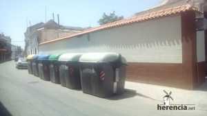 contenedores de basura en Herencia (Ciudad Real)