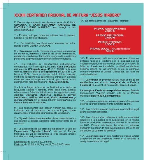 "xxxiii certamen pintura jesus madero bases - Participa en el XXXIII Certamen Nacional de Pintura ""Jesús Madero"""
