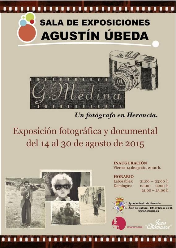 Cartel exposición Generoso Medina un fotografo en Herencia - Exposición fotográfica y documental Generoso Medina