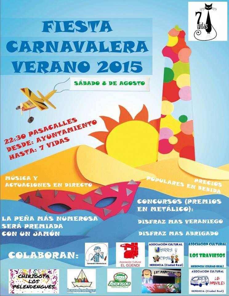 Fiesta carnavalera verano 2015 en Herencia