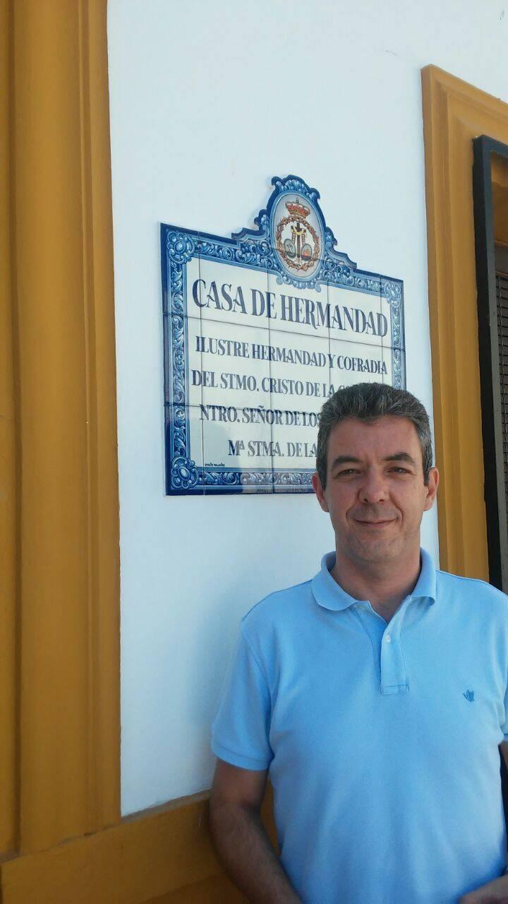 Pedro Almoguera, Hermano Mayor de la Hermandad del Santo