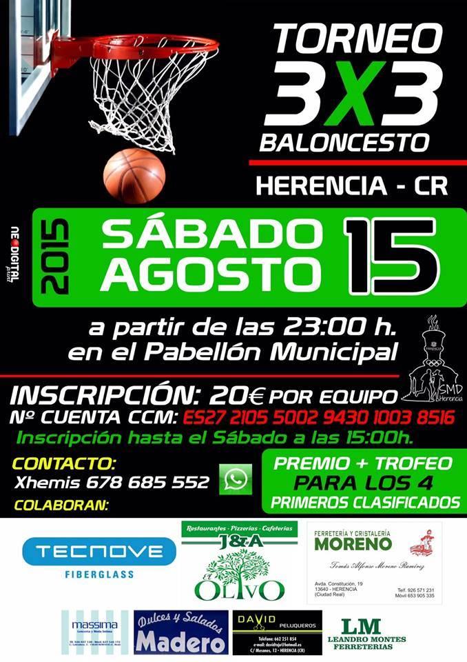 Torneo 3x3 de baloncesto en Herencia - Torneo 3x3 de baloncesto