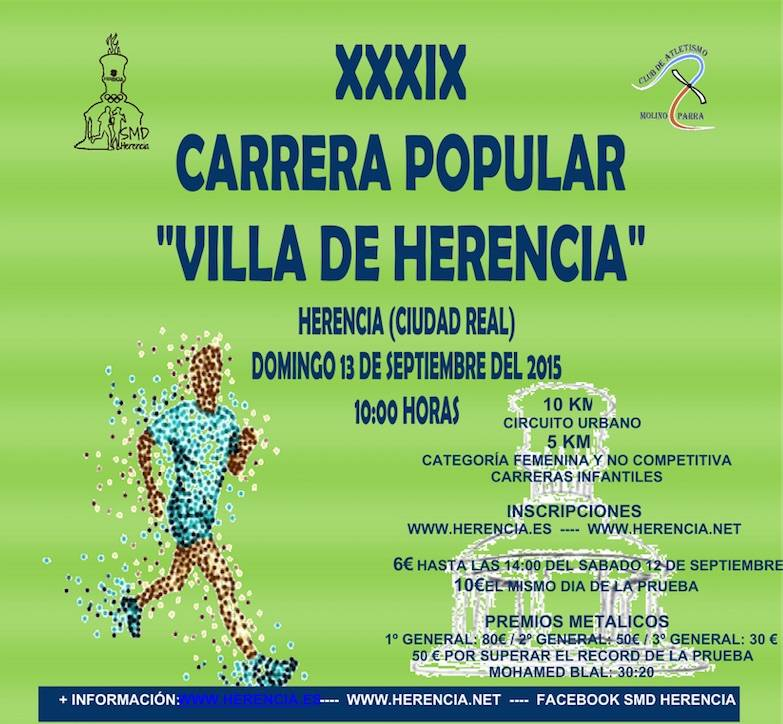XXXIX carrera popular Villa de Herencia