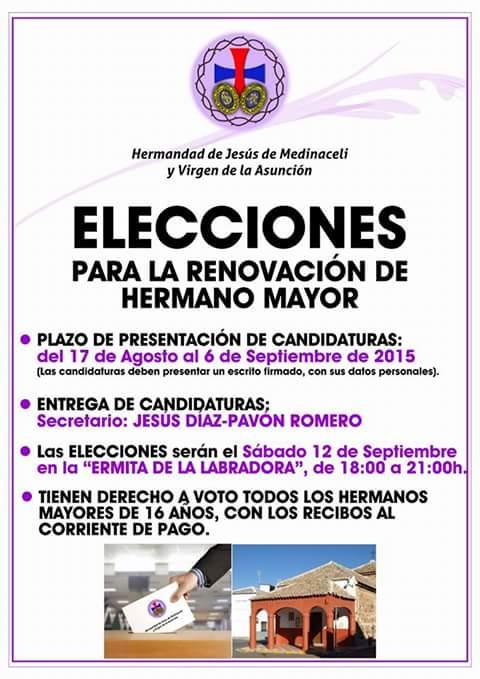 elecciones renovar hermano mayor - Elecciones para la renovación de Hermano Mayor