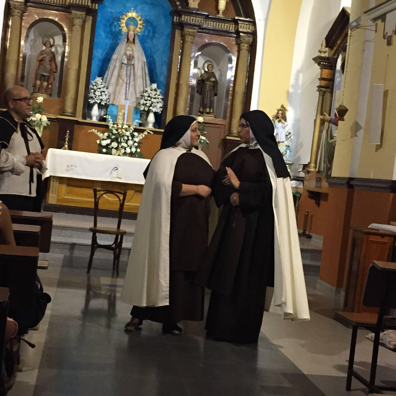 religiosas clarisas - Inicio de peregrinación diocesana de jóvenes a Ávila