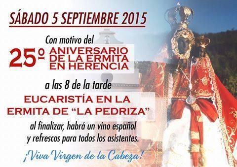 25 aniversario de la Virgen de la Cabeza - 25 aniversario de la ermita de la Virgen de la Cabeza