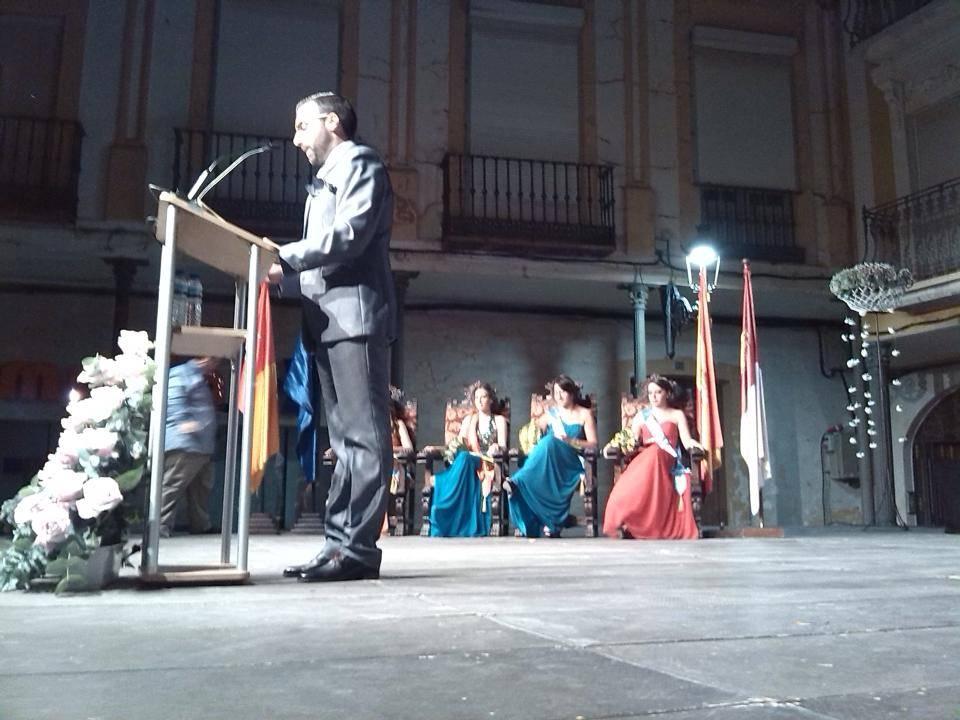 Antonio Martín-Viveros durante su pregón de la feria y fiestas de Herencia