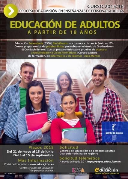 CartelAdmisionEPA2015 DEF - Educación. Plazo extraordinario de matriculación en el AEPA de Herencia