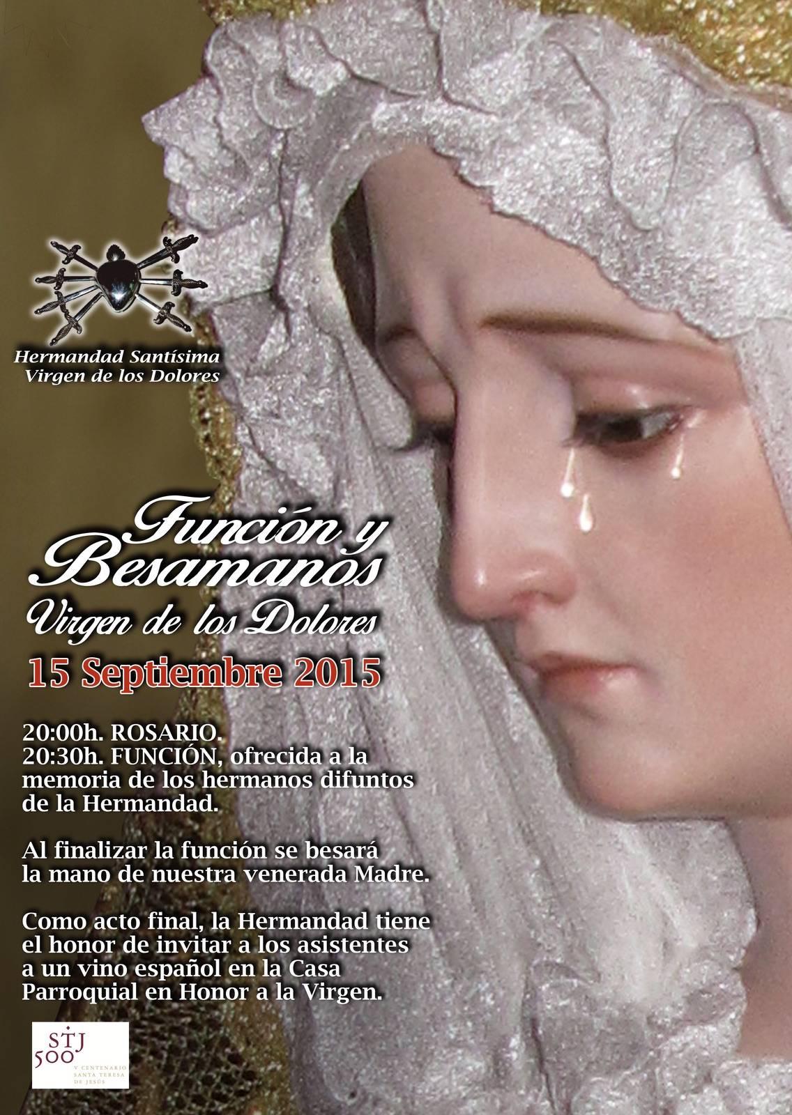 Funcion y besamanos de la Virgen de los Dolores - Función y besamos de la Virgen de los Dolores