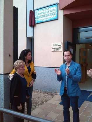 Inauguración del nombre de la escuela de música Gabriel Molina 315x420 - Feria y Fiestas de Herencia en imágenes