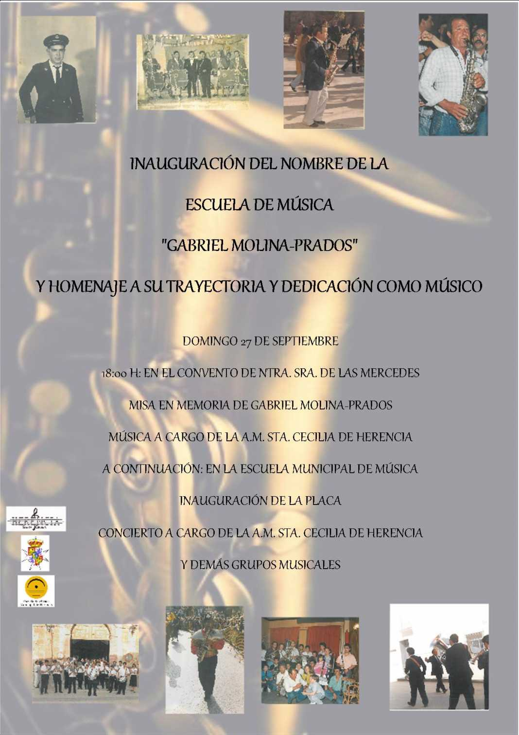 Inauguración del nombre de la escuela de música de Herencia 1068x1511 - Programación de actos para el último día de la feria y fiestas