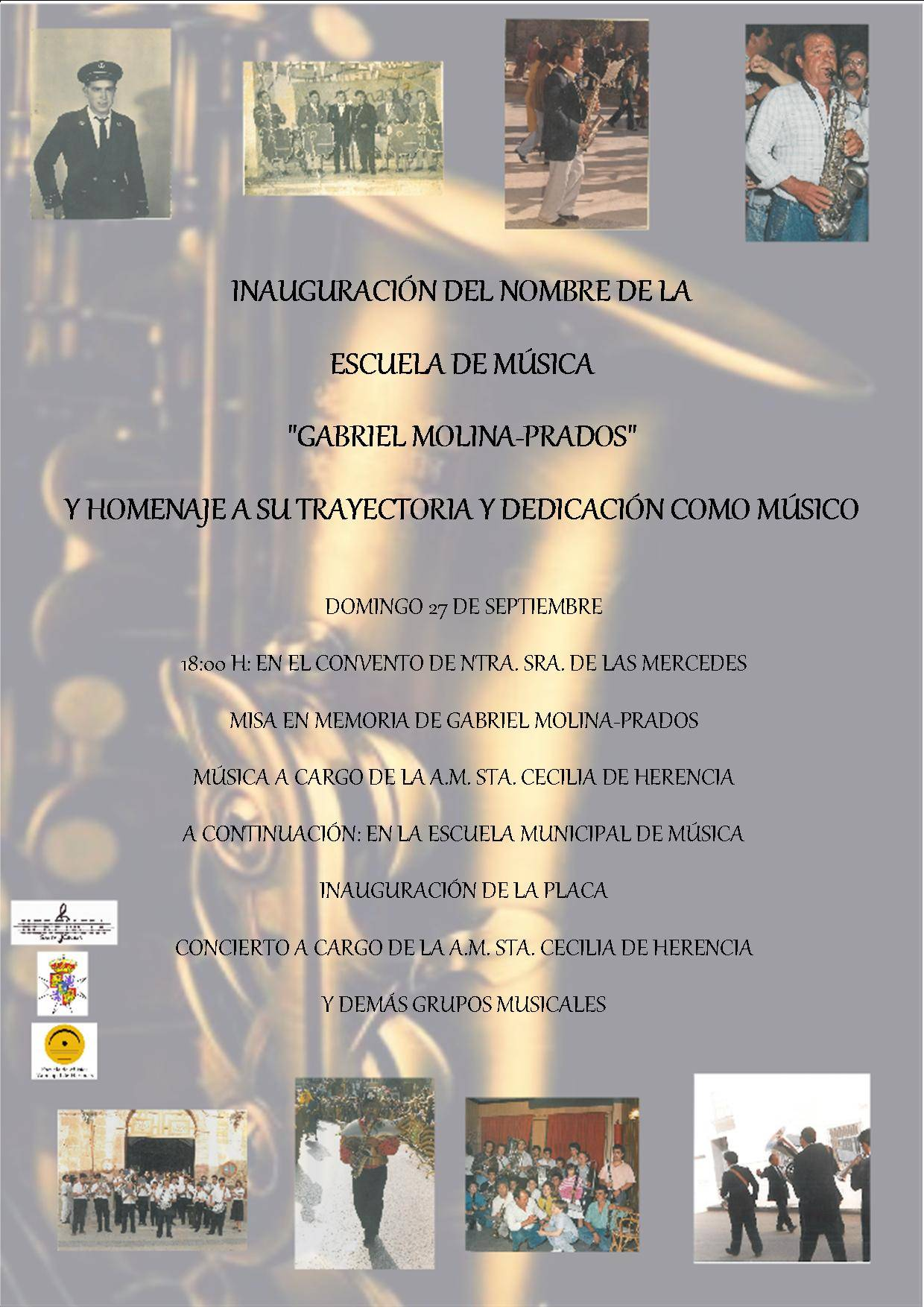 Inauguración del nombre de la escuela de música de Herencia