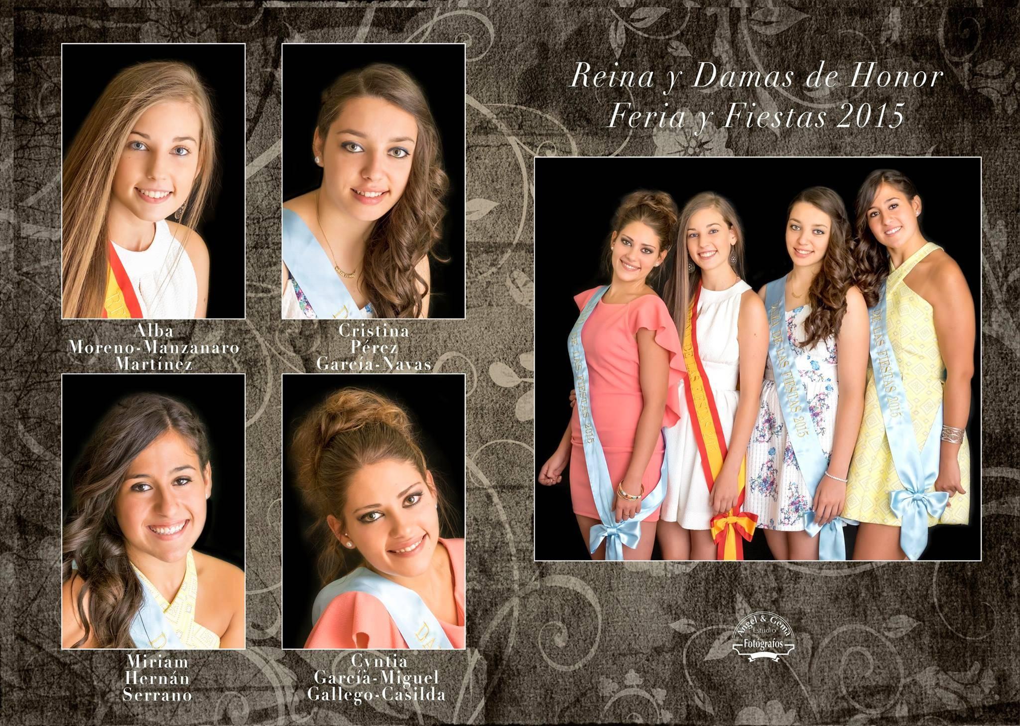 Reina y damas de las ferias y fiestas