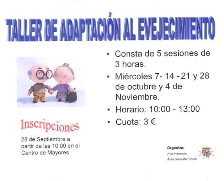 Taller de adaptación al envejecimiento en Herencia