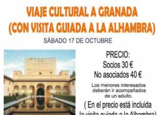 Viaje cultural a Granada de la asociacion piedra papel tijera de Herencia