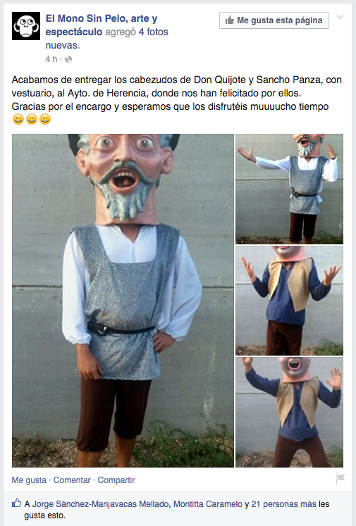 Nuevos cabezudos de Don Quijote y Sancho Panza 5