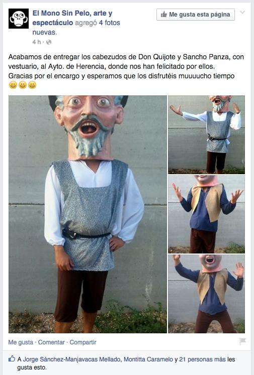 captura cabezudos nuevos para herencia - Nuevos cabezudos de Don Quijote y Sancho Panza
