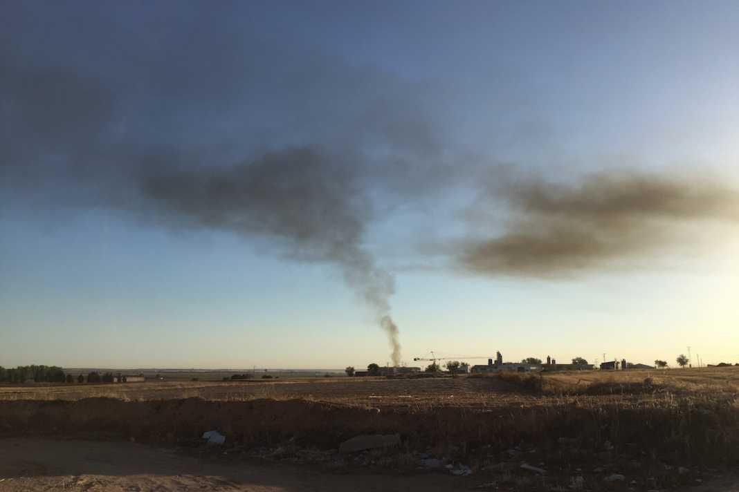 Columna de humo en Herencia 3