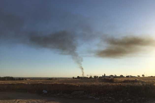 Columna de humo en Herencia 2
