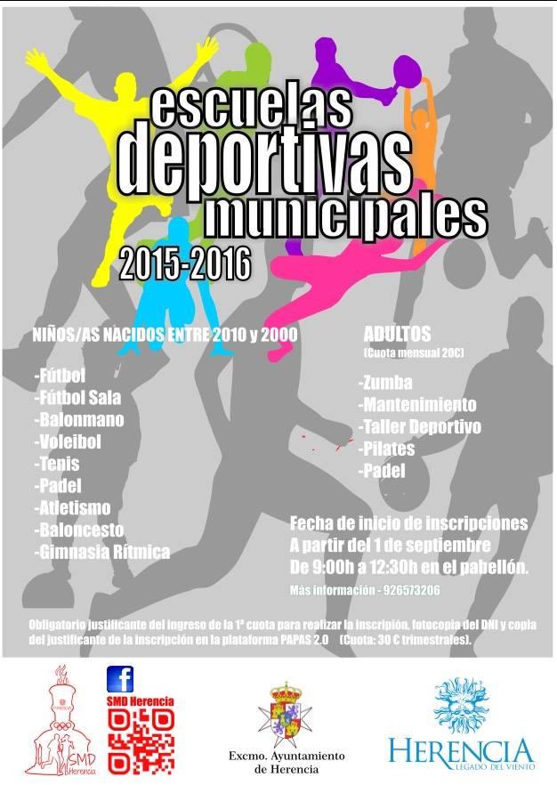 escuelas deportivas municipales 2015 2016