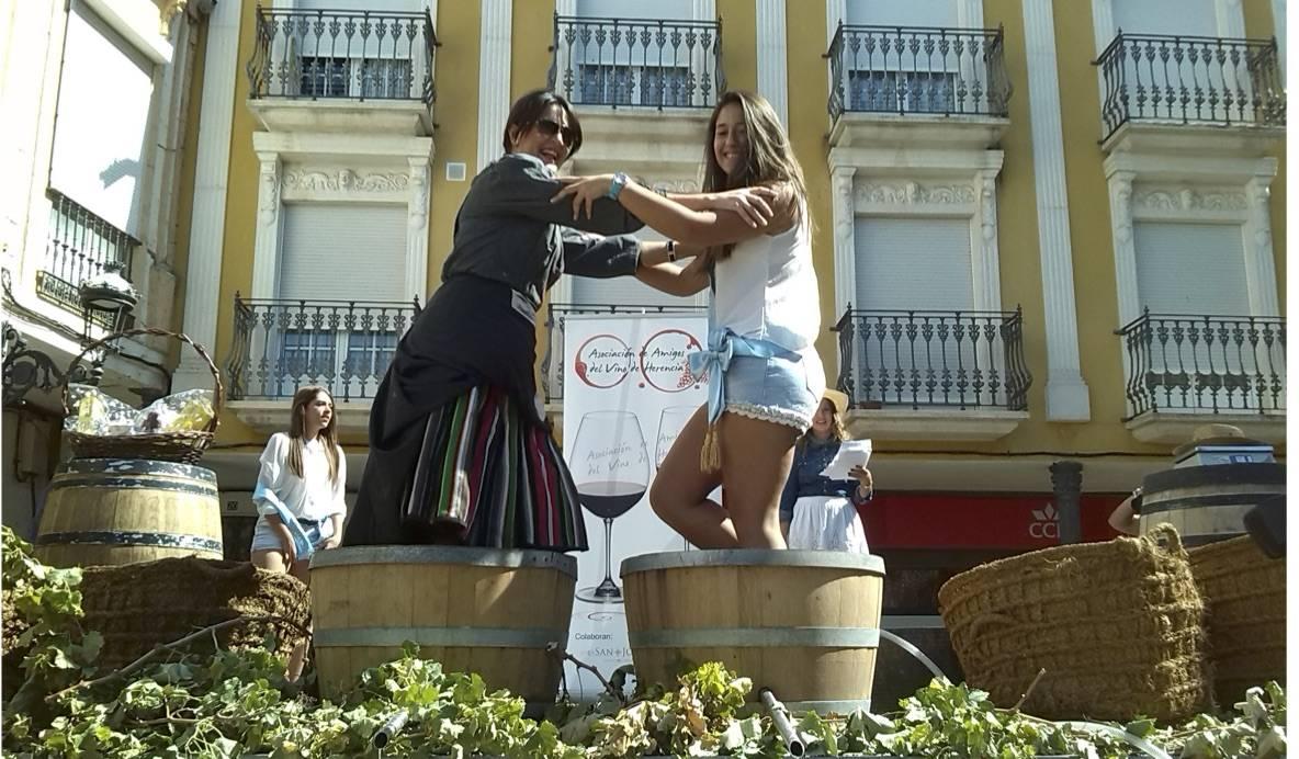 pisada uva feria herencia - Terminan unas feria y fiestas de La Merced muy participativas