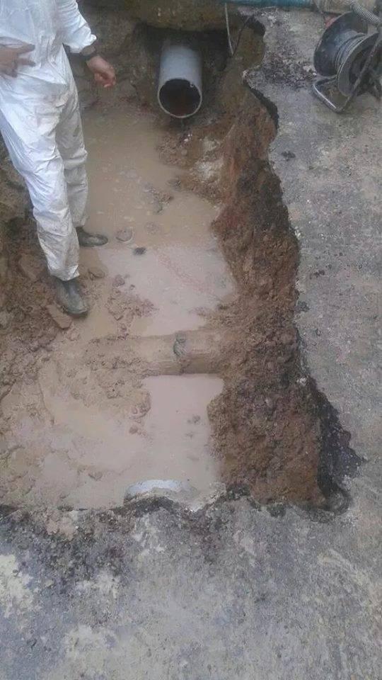 Averia de agua en Herencia 2 - Rotura de agua en el barrio del Cristo