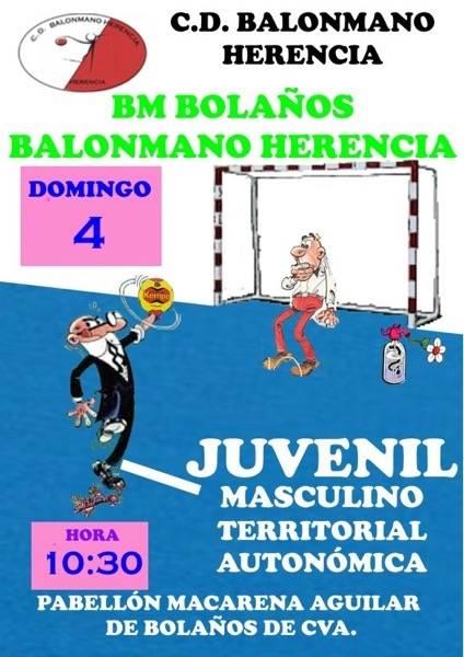 BM Bola%C3%B1os BM Herencia - Los equipos juveniles de balonmano disputan sendos partidos