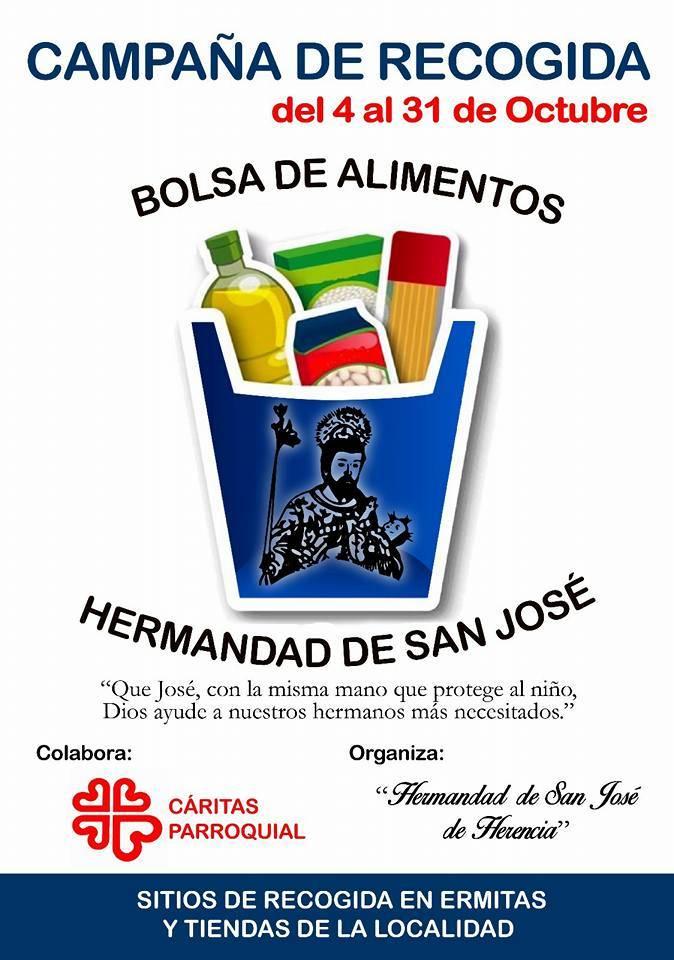 Campaña de recogida de alimentos Hermandad de San Jose de Herencia - Campaña de recogida de alimentos en Herencia