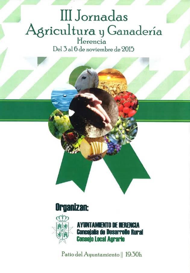 Cartel III Jornadas de Agricultura y Ganadería de Herencia - III Jornadas de Agricultura y Ganadería en Herencia