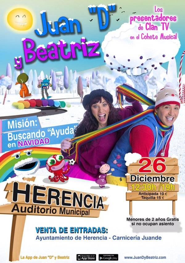 Juan D y Beatriz actuarán en el auditorio cubierto de Herencia 1