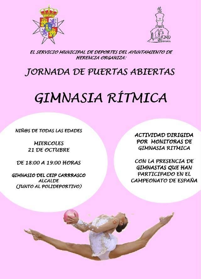 Gimanasia ritmica en Herencia - Jornada de gimnasia rítmica para niños de todas las edades