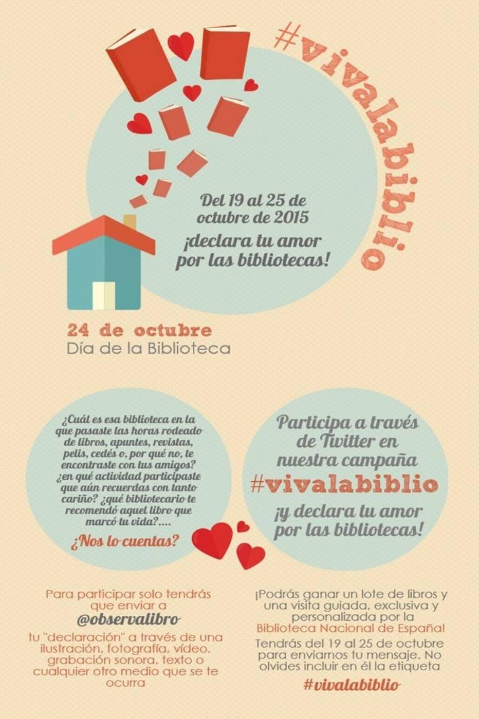 Campaña #vivalabiblio de apoyo a las bibliotecas 1