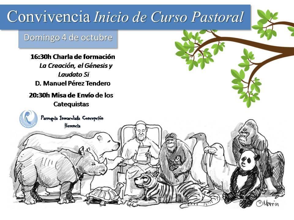 Inicio del urso pastoral de la parroquia de Herencia