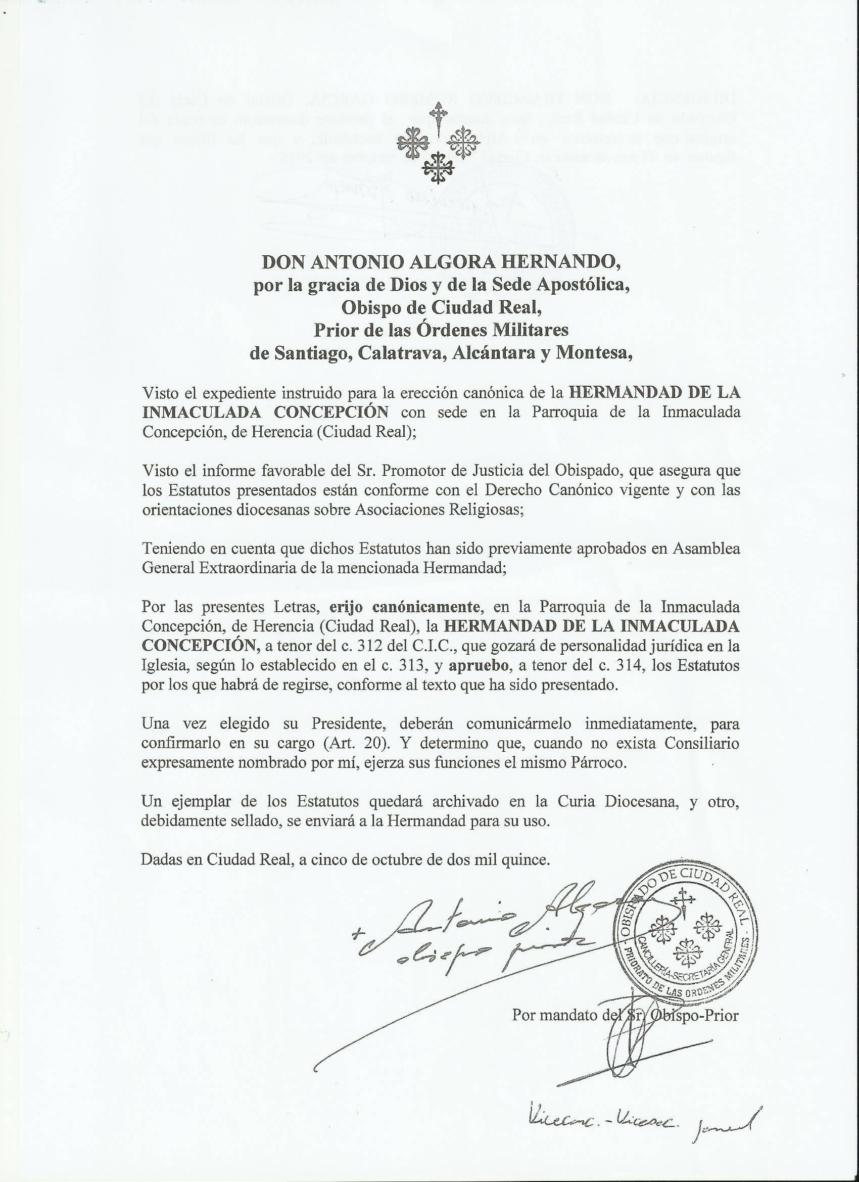 aprobación de la hemrandad de la inmaculada de Herencia_inma-patrona-1