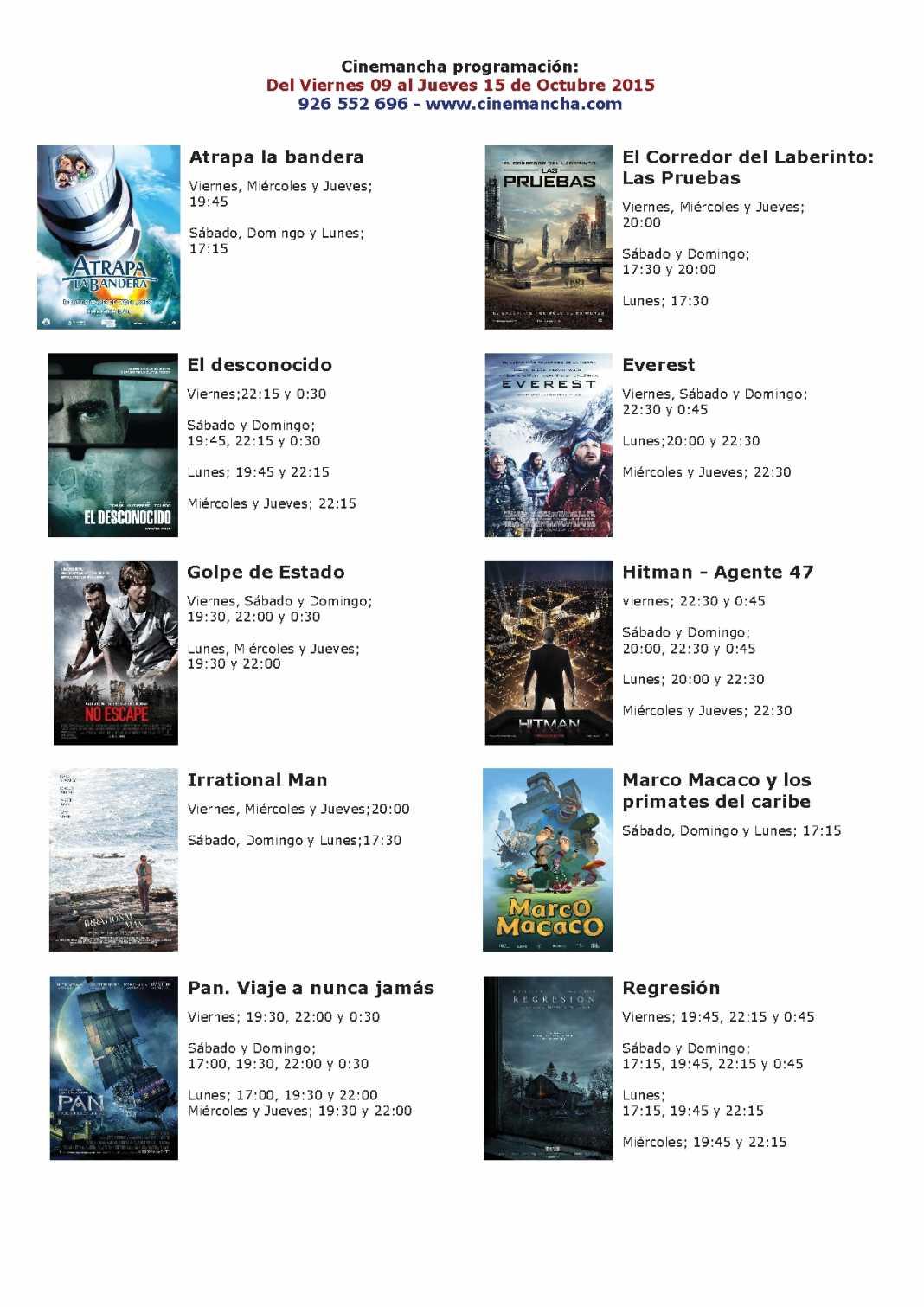 cartelera de cinemacha del 09 al 15 de octubre 1068x1511 - Cartelera Cinemancha del 9 al 15 de octubre